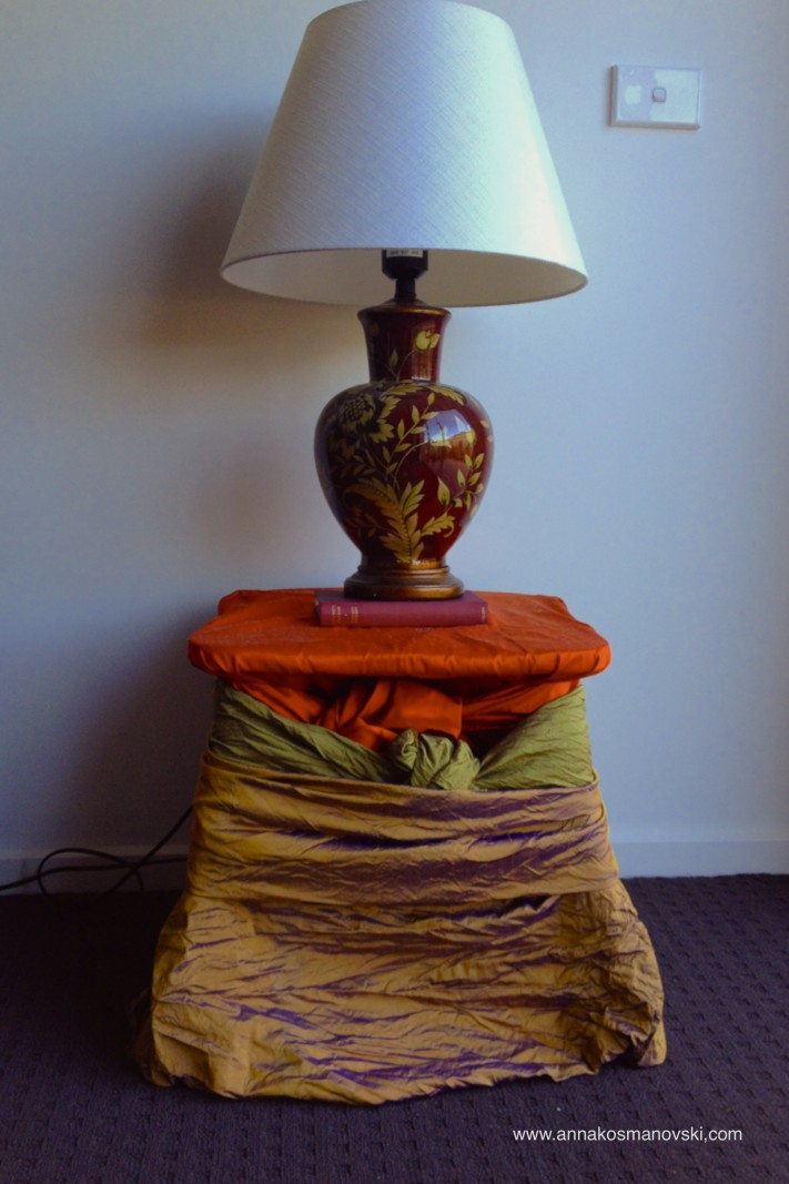 Autumn inspired table and lamp