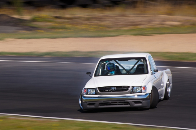 Petrie and his car in action at Hampton Raceway, New Zealand. Photo Credit: ROO WILLS