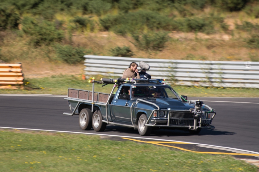 While Petrie took his ute out for the final drive sequence at Hampton Raceway, he wasn't the only one driving. Photo credit: ROO WILLS
