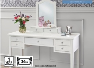 Emilie French dresser with mirror, Aldi