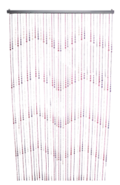 beaded curtain teardrop in pink/purple, Ishka
