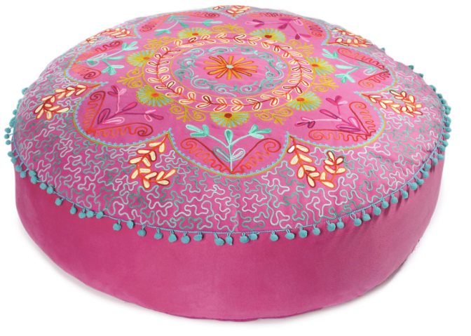 "Kerala floor 30"" cushion, fuchsia, One Kings Lane"