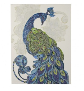 exotic peacock doodle print, Early Settler