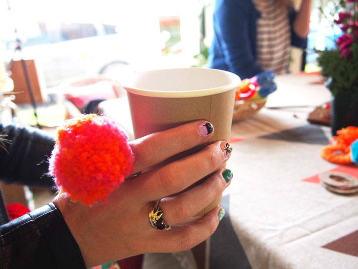 Every pom pom making workshop is best fared with punch!