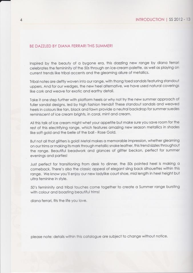Diana Ferrari brochure